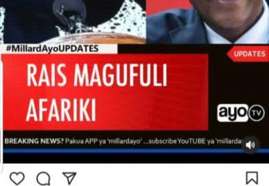 Africa mourns Magufuli allover social media