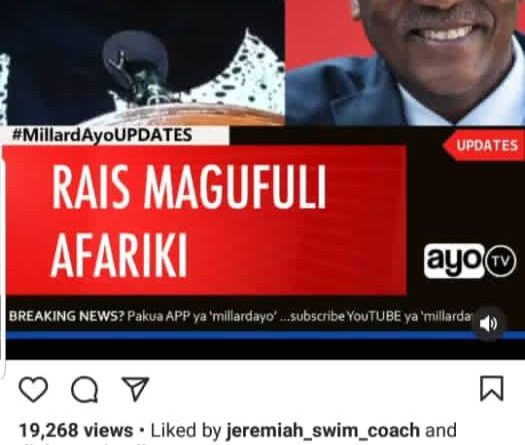 Africa mourns Magufuli allover social media